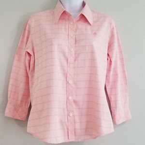 Lilly Pulitzer Sz 4 Women's Pink Plaid Shirt